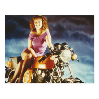 Girl On A Motorcycle Gifts Post Card