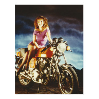 Girl On A Motorcycle Gifts Post Cards