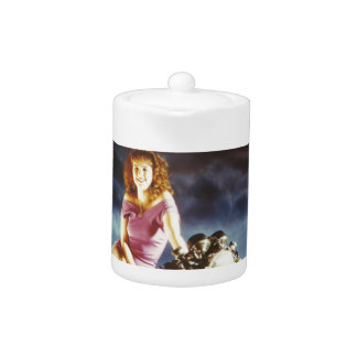 Girl On A Motorcycle Gifts Teapot