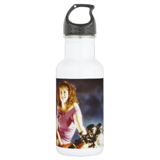 Girl On A Motorcycle 18oz Water Bottle