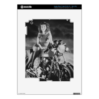 Girl On A Motorcycle iPad 3 Decals