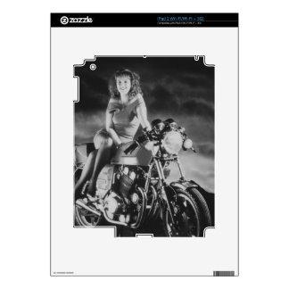 Girl On A Motorcycle iPad 2 Skins