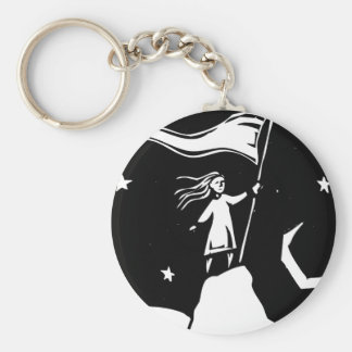 Girl on a Mountian Keychain