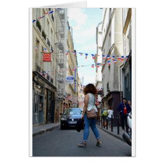 Girl on a Paris Street Card