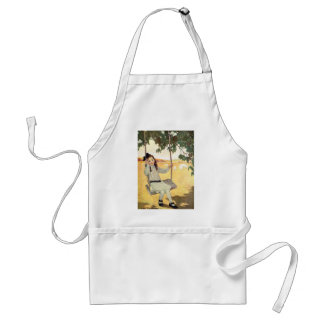 Girl on a Swing Adult Apron