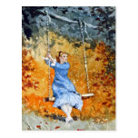 Girl on a Swing by Winslow Homer Postcards