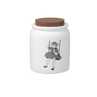 Girl on a Swing Candy Jars