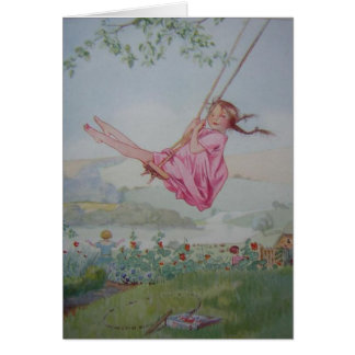 Girl on a Swing, Card