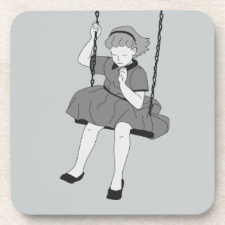 Girl on a Swing Drink Coaster