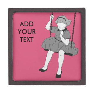 Girl on a Swing Keepsake Box