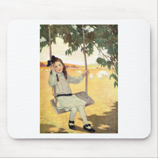 Girl on a Swing Mouse Pad