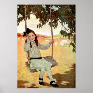 Girl on a Swing -  Print