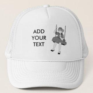Girl on a Swing Trucker Hat