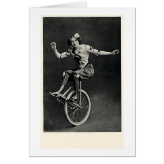 Girl on a Unicycle Card