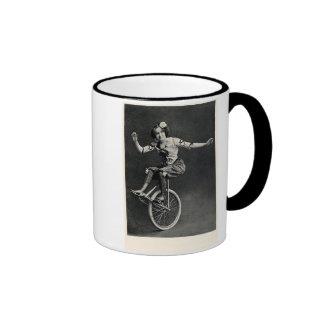 Girl on a Unicycle Ringer Coffee Mug