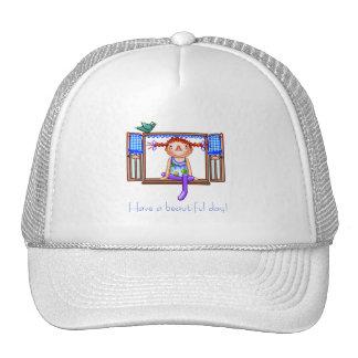 Girl On a Window Sill Pixel Art Trucker Hat