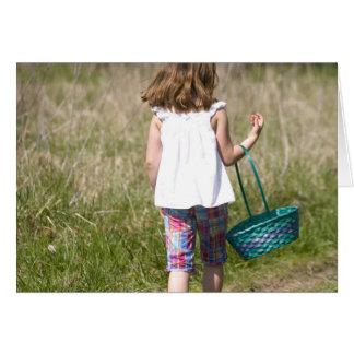Girl on an Easter Egg Hunt Card