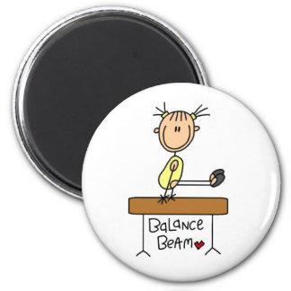 Girl on Balance Beam Magnet