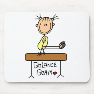Girl on Balance Beam Mouse Pad