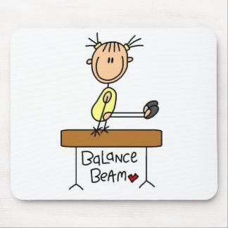 Girl on Balance Beam Mouse Pad