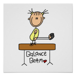 Girl on Balance Beam Posters