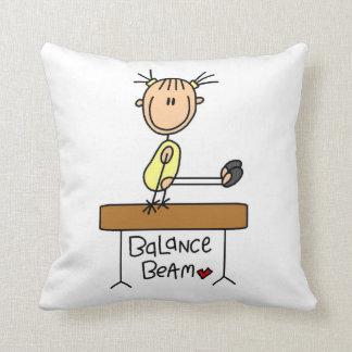 Girl on Balance Beam Throw Pillow
