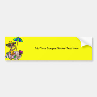 Girl On Beach Bumper Sticker