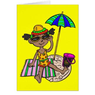 Girl On Beach Card