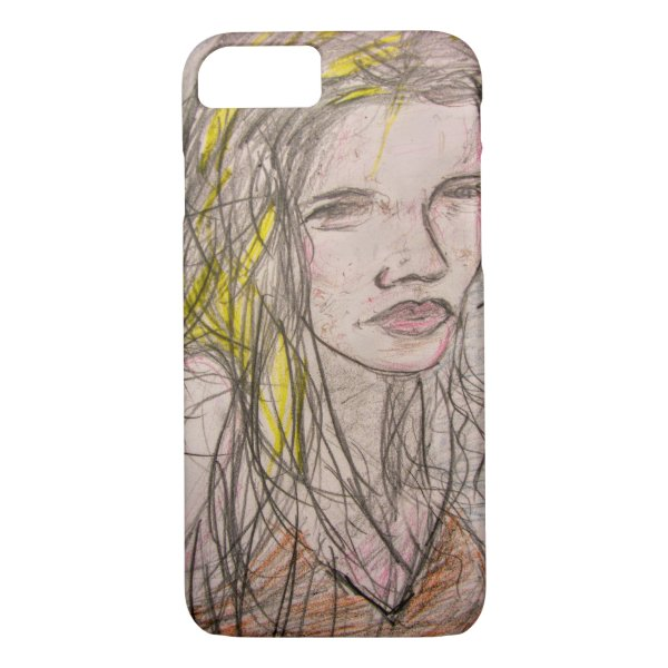 Girl on Beach iPhone 7 Case