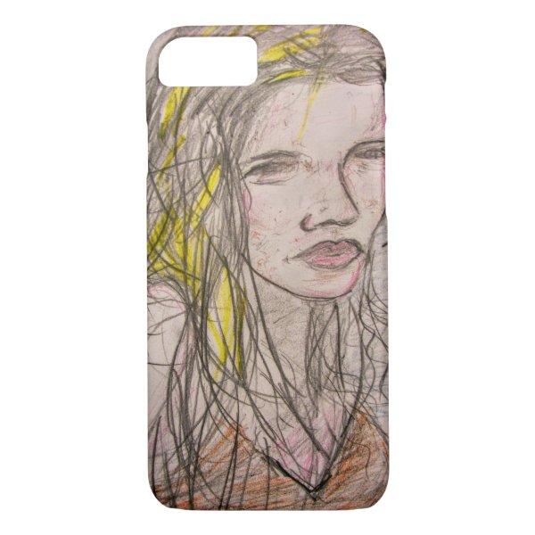 Girl on Beach iPhone 8/7 Case
