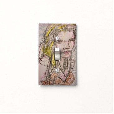 Girl on Beach Light Switch Cover