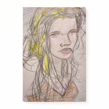 Beach Themed Girl on Beach Post-it Notes