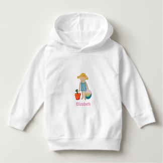 Girl on Beach - Sunhat Ball & Bucket to Customize Tee Shirt