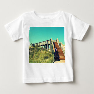 Girl on boardwalk, Florida Gulf Coast Beach Baby T-Shirt