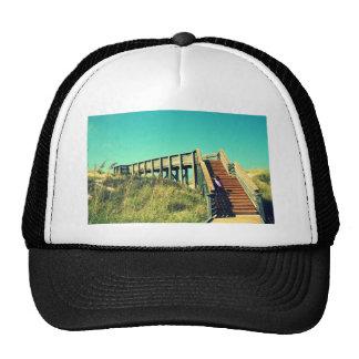 Girl on boardwalk, Florida Gulf Coast Beach Trucker Hat