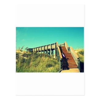 Girl on boardwalk, Florida Gulf Coast Beach Postcard