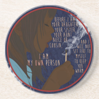 Girl on Fire Drink Coasters
