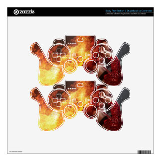 Girl on fire, Steampunk, beautiful woman dressed i Skin For PS3 Controller