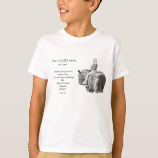 GIRL ON HORSE: BIBLE VERSE: PENCIL ART T-Shirt