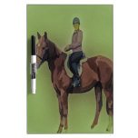 Girl on horse Dry-Erase board
