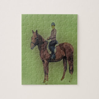 Girl on horse jigsaw puzzles