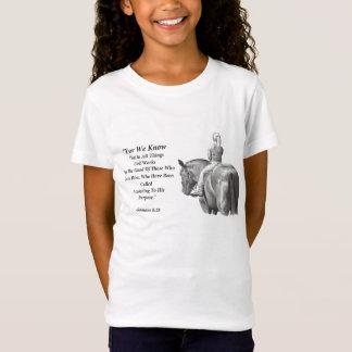 Girl On Horse, Pencil Art: Bible Verse: Romans T-Shirt