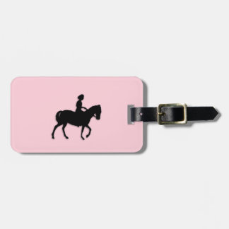 Girl on Horse / Pony Pink Luggage Tag