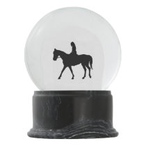 Girl on Horse Snow Globe