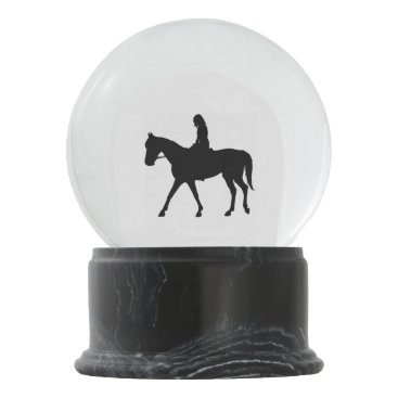 kahmier Girl on Horse Snow Globe
