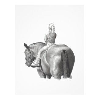 GIRL ON HORSEBACK: PENCIL ART: REALISM FLYER