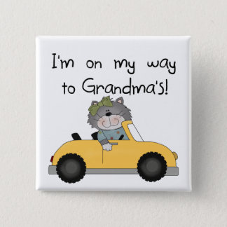 Girl - On My Way to Grandmas Tshirts and Gifts Button
