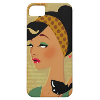 girl on phone iPhone SE/5/5s case