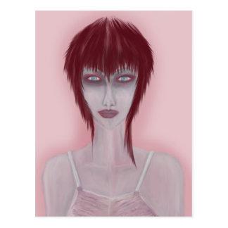 Girl On Pink Postcard