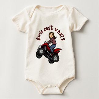 Girl on Red Four Wheeler Baby Bodysuit